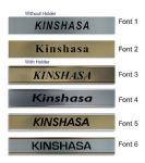 Kinshasa Clock Name Plate |World Time Zone City Wall clocks Sign custom Plaque